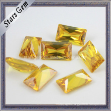 Beautiful Yellow Rectangle Shape Princess Cut Cubic Zirconia Gemstone