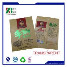 Eingeklebte Unterseite Kraftpapier-Ventil-Beutel, Verpackungs-Sack