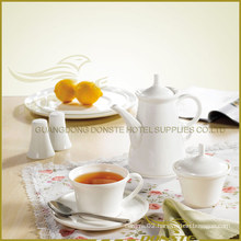 8 PCS White Porcelain Tableware Edge-up Series