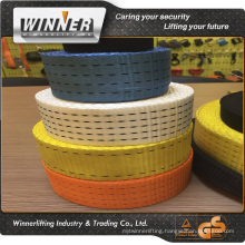 Green red black yellow polyester cord strapping