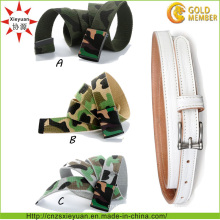 Custom Logo and Color Nylon Weave Army Belt