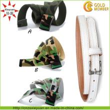 Custom Logo and Color Nylon Weave Army Belt