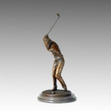 Sports Statue Golf Man Bronze Sculpture, Milo TPE-223