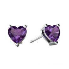 Purple Earring 316L Stainless Steel Jewelry Handmade Jewelry