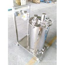Chariots à pompe en acier inoxydable avec réservoir