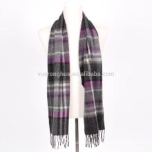 Bufanda de cachemira pura de alta calidad en tela escocesa para el hombre