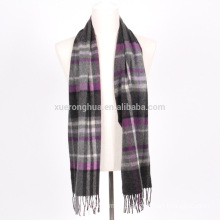 High quality pure cashmere scarf in plaid for man