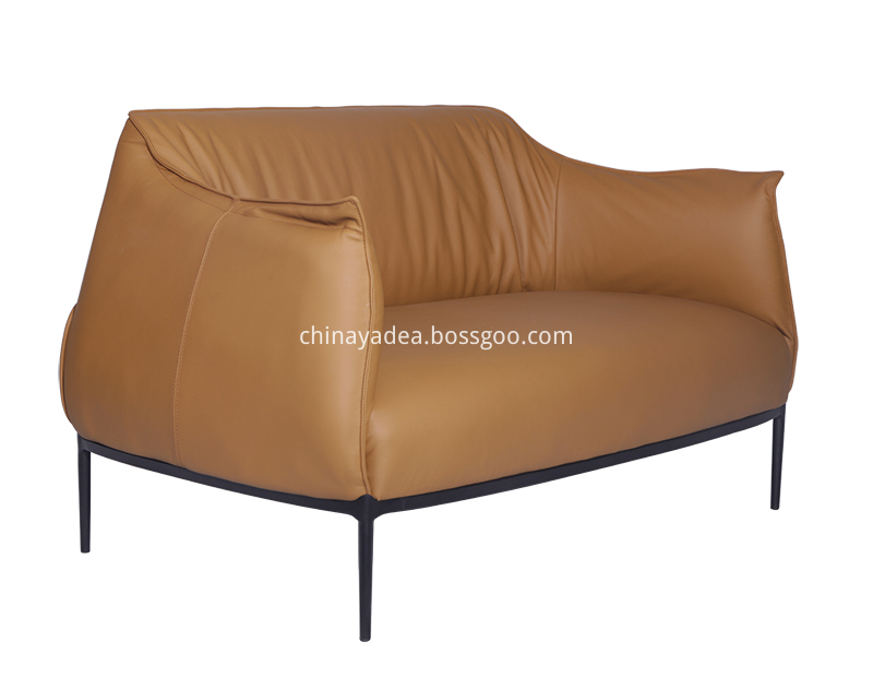 Archibald Two Seater Sofa In Leather