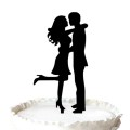 Groom and Bride Silhouette Topper
