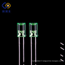 Prix raisonnable clair 5mm vert 520nm concave led diode