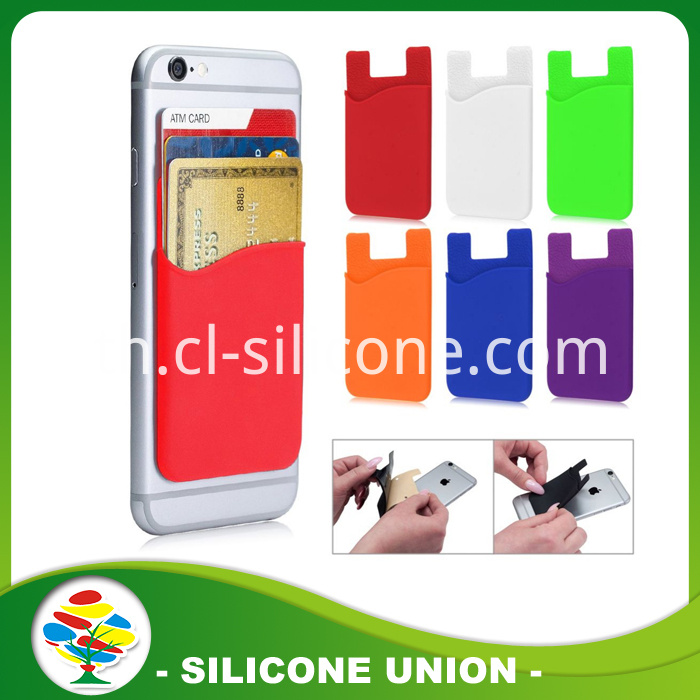 silicone iphone7 card holder