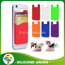 2016 Promotion multicolore 3M Silicone Card holder