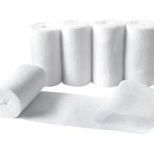 Rollo de vendaje de gasa absorbente de algodón desechable