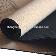 High quality eco friendly natural cork yoga mat custom logo