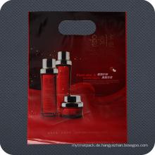 Kosmetik-Plastik gestempelschnittener Griff-Einkaufstasche