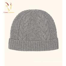 Chapeau de chapeau de laine de câble tricoté chapeau de chapeau de bonnet au crochet en gros