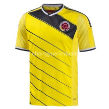 2014 newest Colombia World Cup Jersey Thailand quality soccer uniform kits