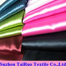 Colores satinados con tacto sedoso de tela de satén de seda de poliéster