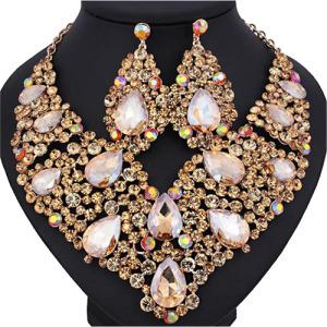 Wholesale Bridal Necklace Set With Colored Diamonds
