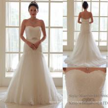 Новая Модель Дешевые Элегантные Слоновой Кости Русалка Свадебное Платье 2016