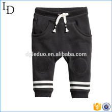Brossé à l'intérieur doux tissu enfants harem pantalons mode couleur unie design