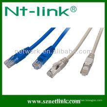 La fábrica hace el cable de remiendo plano de Utp / ftp cat5e