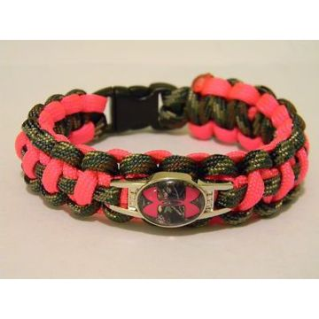 hand made polyester or nylon paracord bracelet