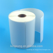 Acrylic self adhesive logistics top coating thermal sticker roll