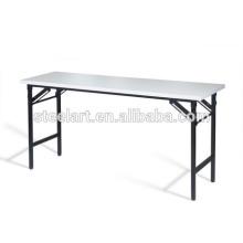 Современный дизайн металлических библиотека стол дети обучения стол складной набор мебели