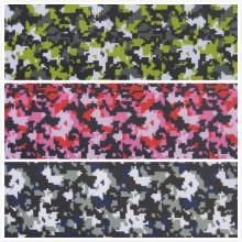 Oxford 600d Tissu de polyester imprimé à camouflage numérique (DS01)
