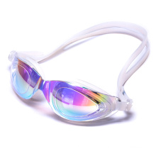 Великая печать и низкопрофильный силиконовый плавательные очки Анти-туман дизайн