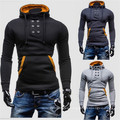 2016 Latest Men′s High Quality Double-Breasted Hooded Sweater