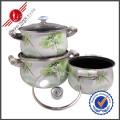 3 PCS Non-Stick Kitchenware Enamel Cookware Set
