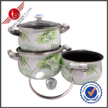 3 PCS Non-Stick Kitchenware Enamel Cookware Set
