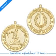 Fornecimento de alta qualidade personalizado 3D Side Side medalha de lembrança no preço de fábrica