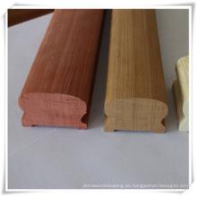 barandillas de escalera de madera de arce