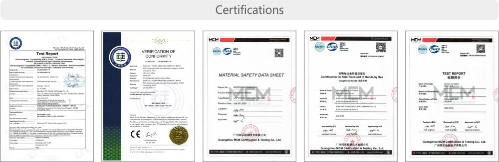 Car Battery Certifications Starlight11