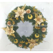 Guirnalda artificial de la flor de la Navidad del PVC