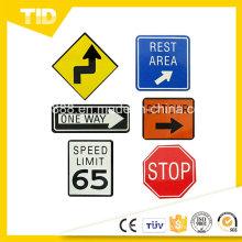 Reflektierende Verkehrszeichen Sicherheit für Sicherheit im Straßenverkehr