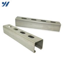 Alta qualidade entalhado suporte galvanizado aço gi c canal de ferro