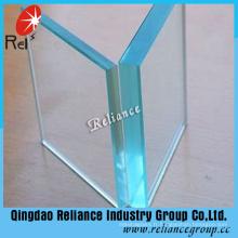 Verre à flotteur transparent et verre clair à structure solide