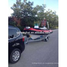barco inflable de la costilla de fibra de vidrio motor fuera de borda