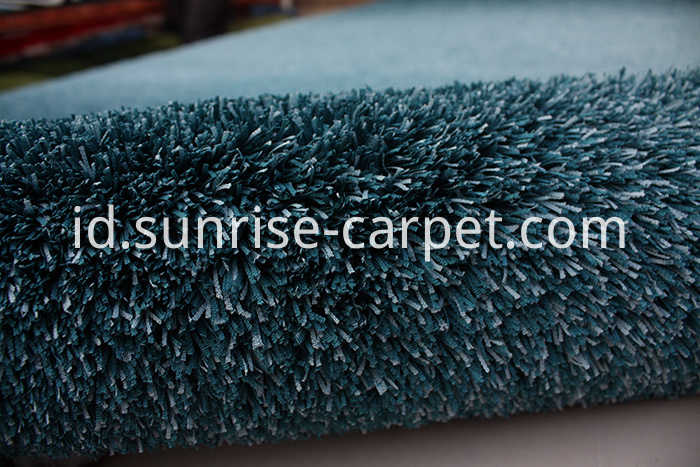 Fabric polyester gradational color floor carpet blue color