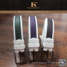 Fashion Professional genuine Newest 100% cowhide mens genuine pu belt