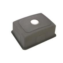 fregadero de cocina de acero inoxidable 304 con encimera de un solo recipiente