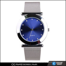 metal silver nurse watch, japan movt geneva watch stainless steel