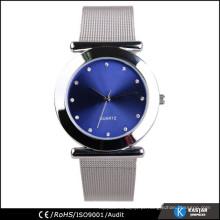 Relógio de enfermeira de metal prata, japão movt genebra relógio de aço inoxidável