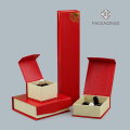 Custom logo print red jewelry sets box new