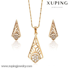62972-Xuping young girl jewellery gold earring pendant set jewelry