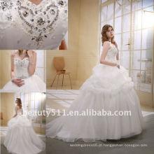 Astergarden Fashionable Beading A-line Flower Veils como presente Noblest Vestido de noiva vestido de erva daninha MA-002